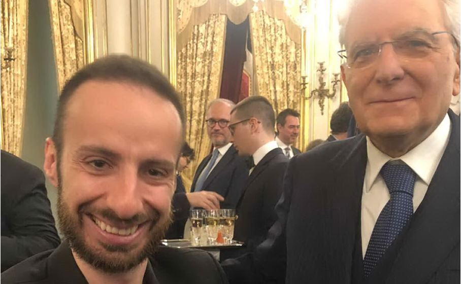 massimiliano sechi e il presidente della repubblica mattarella al quirinale foto ufficio stampa noexcuses