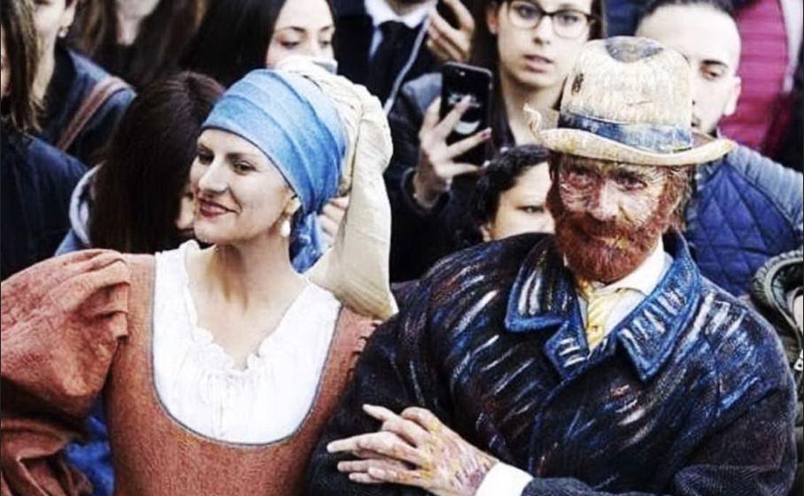 il flash mob di laura pausini e biagio antonacci a roma