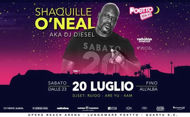 shaquille o neil al poetto on air